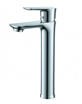 Vòi Lavabo 1 lỗ nóng lạnh thân cao hai đường nước + dây cấp nước