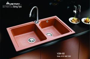 Chậu rửa 2H Việt Mỹ V2N-02