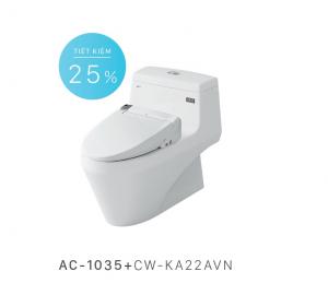 Bồn cầu nắp rửa điện tử Inax AC-1035+CW-KA22AVN