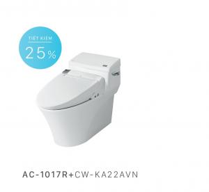 Bồn cầu nắp rửa điện tử Inax AC-1017R+CW-KA22AVN