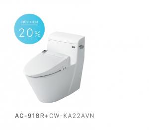 Bồn cầu nắp rửa điện tử Inax AC-918R+CW-KA22AVN