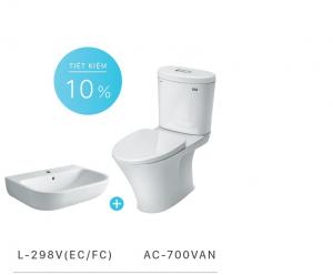 Bộ sản phẩm bồn cầu Inax AC-700VAN+ chậu rửa L-298V