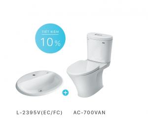 Bộ thiết bị vệ sinh AC-700VAN+L-2395V