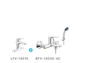 Combo vòi chậu + Sen tắm Inax LFV-1401S+BFV-1403S-4C