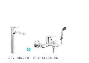 Combo vòi chậu + sen tắm Inax LFV-1402SH+BFV-1403S-4C