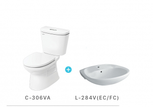Bộ sản phẩm Bệt C-306VA + Chậu L-284(EC/FC)