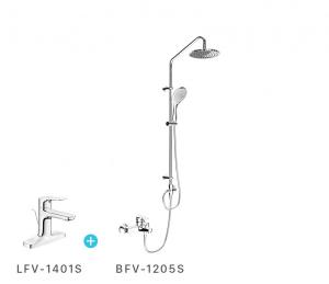 Combo vòi chậu + sen tắm inax LFV1401S + BFV1205S