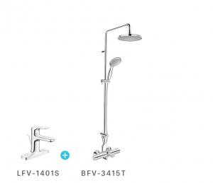 Combo vòi chậu + sen cây LFV1401S + BFV3415T