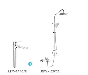 Combo vòi chậu + sen cây inax LFV1402SH + BFV1205S