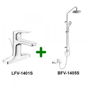 Combo Vòi chậu + Sen tắm LFV-1401S+BFV-1405S