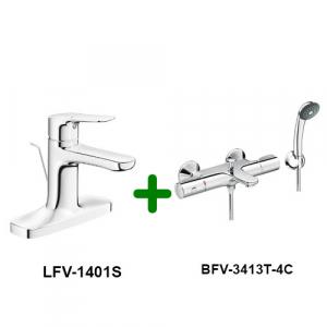 Combo Vòi chậu + Sen tắm LFV-1401S+BFV-3413T-4C