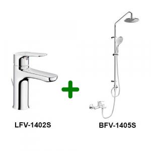 Combo Vòi chậu + Sen tắm LFV-1402S+BFV-1405S