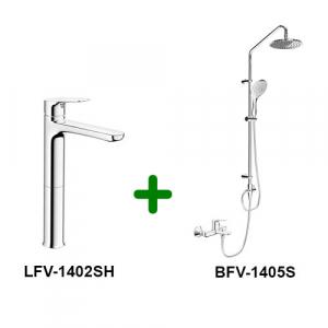 Combo Vòi chậu + Sen tắm LFV-1402SH+BFV-1405S