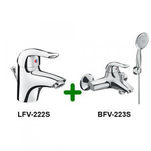 Combo vòi chậu + sen tắm Inax LFV-222S + BFV-223S
