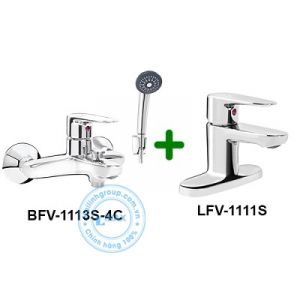 Combo vòi chậu + sen tắm Inax LFV-1111S+BFV-1113S-4C