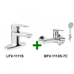 COMBO vòi chậu + sen tắm INAX LFV-1111S+BFV-1113S-7C