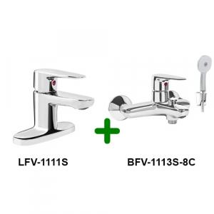 COMBO vòi chậu + sen tắm INAX LFV-1111S+BFV-1113S-8C