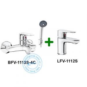 Combo vòi chậu + Sen tắm Inax LFV-1112S+BFV-1113S-4C
