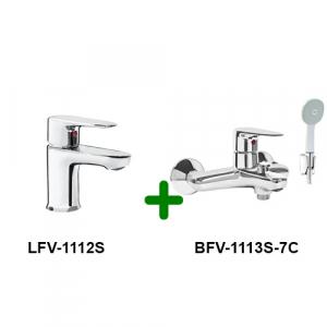 Combo vòi chậu + sen tắm Inax LFV-1112S+BFV-1113S-7C
