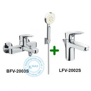 Combo vòi chậu + sen tắm LFV-2002S+BFV-2003S